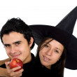 Bad apple couple — Stock Photo