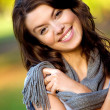Beautiful female portrait outdoors - Stock Photo