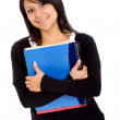 Female student with notebooks — Stockfoto #7774201