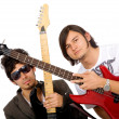 Electric guitarists — Stock Photo