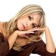 Блондинка моды женщина — Стоковое фото