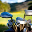 Stock Photo: Golf clubs close up