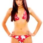 Confident fashion girl in a bikini — Stock Photo #7774238
