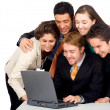 Business team in an office laptop — Stock Photo #7774249