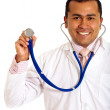 Stock Photo: Male doctor smiling