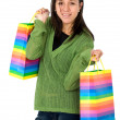 Stock Photo: Beautiful Womwith shopping bags
