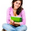 Female student with a notebook - Stock Photo