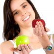 Girl eating an apple — Stock Photo #7774328
