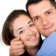 Couple of young portrait — Stock Photo