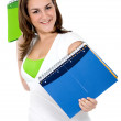 Female student with notebooks — Foto de Stock
