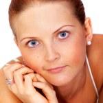 příležitostné žena portrét — Stock fotografie