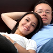 Couple relaxing at home — ストック写真