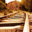 Iron railtrack - Stock Photo