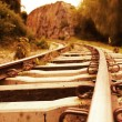 Iron railtrack - Foto Stock