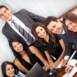 Business team in an office laptop — Stock Photo #7774497