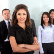 Stock Photo: Business team in an office