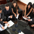 Business entrepreneurs in a meeting — Stock Photo