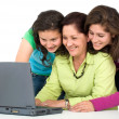 Stock Photo: Family on a laptop