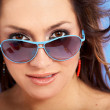 Smiling woman portrait - sunglasses — 图库照片