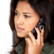 Stock Photo: Girl talking on the phone