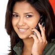 Girl talking on the phone — Stock Photo