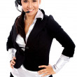 Stock Photo: Customer service woman