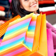 Girl out shopping — Lizenzfreies Foto