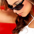 Fashion portrait - sunglasses - Stockfoto