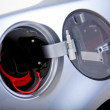 Petrol lid open - Foto Stock