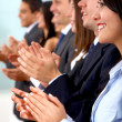 Business team clapping — Stock Photo #7774782