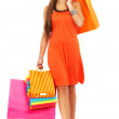 Girl out shopping — Stock Photo