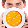 Stock Photo: Clock showing time