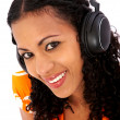 Girl listening to music — Stock Photo #7774875