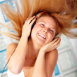 Woman listening to music — Stock Photo #7774938
