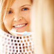 Woman with a toothbrush — Stock Photo #7774939