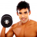 Man lifting weights — Stock Photo #7774949