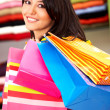 Stock Photo: Girl out shopping