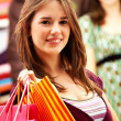 Woman out shopping — Stock Photo #7774970