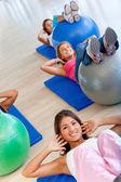 Women in pilates class — Stock Photo