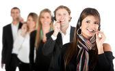 Customer support operators — Stock Photo