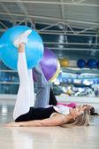 Women at a pilates class — Stock Photo
