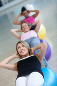 Pilates class at the gym — Stockfoto