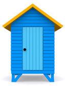 Strand hut — Stockfoto