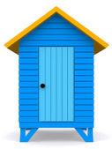 Beach hut — Stockfoto