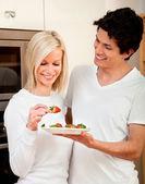 Coppia di mangiare sano — Foto Stock