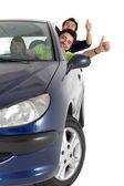 Hombres que salen de un coche — Foto de Stock