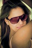 Žena portrét sluneční brýle — Stock fotografie