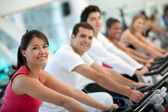 Doing spinning — Stock Photo