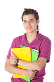Male student with notebooks — Stock Photo