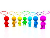 3D colourful talking — Stock Photo
